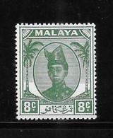 Malaya Trengganu 1952-55 Sultan Ismail Nasiruddin Shah 8c MNH - Trengganu