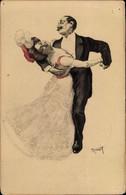 Art Nouveau Artiste CPA Reznicek, Ferdinand Von, Tanzendes Paar, Simplicissimus I 1 - Non Classificati