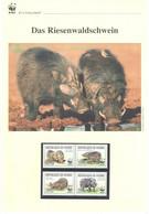 Guinea 2009 - WWF Das Riesenwaldschwein - Komplettes Kapitel Postfrisch MK FDC - Unclassified