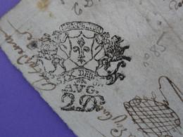 """1690 Généralité De LYON Papier Timbré N°85 De """"SIX DEN + 2D AUG"""" Quart De Feuille - Seals Of Generality"""