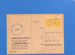 Allemagne Bizone 1946 Postkarte De Frankfurt Avec Censure (G1690) - Zona Anglo-Americana
