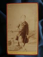 Photo CDV Albert Prouzet à Paris - Petit Garçon élégant, Circa 1875-80 L550-6 - Ancianas (antes De 1900)