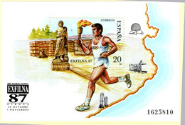 Spain 1987 Exfina '87 Block Estafette Runner MNH 2105.1037 Olympic Flame, Aeculape - Other