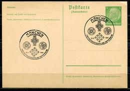 """German Empires1941 GS Hindenburg Als Stempelbeleg Mi.Nr.P228 A Mit WHW Propaganda SST""""München-1.Reichsstrassensammlun""""1 - Stamped Stationery"""