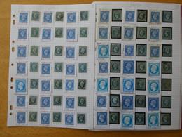 FRANCE ,306 Exemplaires Du N° 14  Par Un Spécialiste Qui A Relevé Les Anomalies.Lot Différent Des Précedents - 1853-1860 Napoleone III