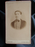 Photo CDV Ate Delon à Montpellier - Homme Portrait Nuage Circa 1880 L550-6 - Ancianas (antes De 1900)