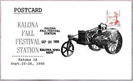 KALONA FALL FESTIVAL - TRACTOR. Kalona IA 1998 - Agriculture