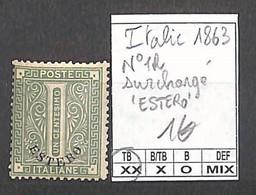 D - [859050]TB//**/Mnh-Italie 1863 - N° 1, Surchargé 'ESTERO' - Nuevos