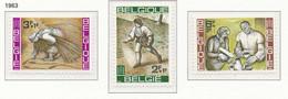 [150152]SUP//**/Mnh-[1243/45] Belgique 1963, Agriculture, Art, Tableaux De Peintres Belges (Bruegel Et Carte), SNC - Agriculture