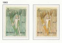 [150176]SUP//**/Mnh-[1251/52] Belgique 1963, PAX, Mouvement Du 8 Mai Pour La Paix, SNC - Autres