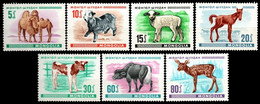 (023) Mongolia  Young Animals / Animaux / Dieren / Tiere / Fauna  ** / Mnh  Michel 482-488 - Mongolei