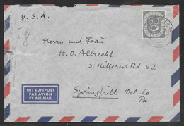 Germany - 1954 Airmail Cover - Munchen To Springfield USA - Lettres & Documents
