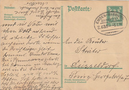 Allemagne Ambulant Emden - Warburg Sur Entier Postal 1927 - Stamped Stationery