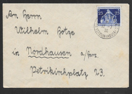 Germany / France - 1936 Cover Franked Local Government Congress Stamp - Verdun (Meuse) Postmark - Covers & Documents