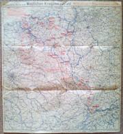 Ravenstein's Karte Vom Westlichen Kriegsschauplatz - Gr. 54 X 59 Cm, Um 1914-1918 - Topographical Maps