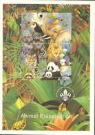 BATUM - Cinderella - 1996 - Animal Preservation, Imprint Scout Logo - Imperf 4v Sheet - Mint Never Hinged - No Gum - Géorgie