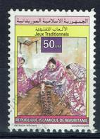 Mauritanie, 50um, Jeux Traditionnels, 1996 Obl, TB RARE - Mauritania (1960-...)