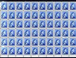 Canada 1950-52 KG6 Official 5c Blue Opt'd 'G' Impressive Block Of 60 U/m SG O184 - Nuevos