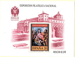 Spain 1989 Exfina'89 Toledo Cloister Block MNH 2105.1048 Painting Holy Family By El Greco - Abbeys & Monasteries