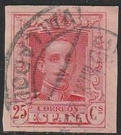 1922. º Edifil: 317s. ALFONSO XIII-VAQUER. SIN DENTAR - Oblitérés