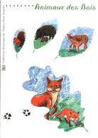 DOCUMENT ENCART FDC 2001 LES ANIMAUX DES BOIS - Documenten Van De Post