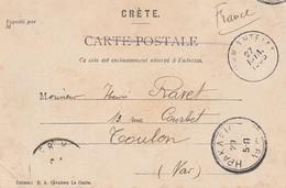 CP Franchise De CANDIE Pour Toulon 1905. Occupation. - Unclassified