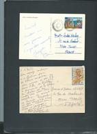 Lot De 12 Cartes Postales Affranchies Pour La France      -mala91 - Tunisia