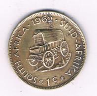 1 CENT 1962 ZUID AFRICA /3943/ - South Africa
