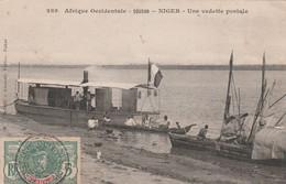 CPA AFRIQUE NOIRE NIGER Une Vedette Postale Bateau Boat   2 Scans - Niger