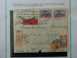 FRANCE  INDOCHINE  Lettre Recommandée Par Avion Cachet Saigon Central 12-12-1930 Voir 2 Scans - Briefe U. Dokumente
