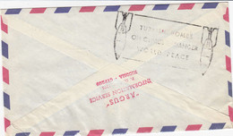 CYPRUS.  1 Letter Send To Denmark 1964, + Extra Stamp On Backside Tyrkie Bomb Cyprus - Cartas