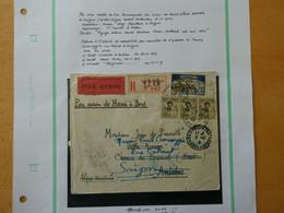 FRANCE  INDOCHINE  Lettre Recommandée Avec Cachet De Cire Par Avion Cachet Saigon Central 6-11-1929 Voir 2 Scans - Briefe U. Dokumente