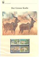 Sambia 2008 - WWF Der Grosse Kudu - Komplettes Kapitel Postfrisch MK FDC - Unclassified