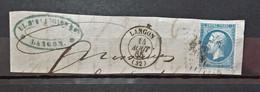 05 - 21 - France - Fragment N°22 Oblitération GC 1945 Langon - Gironde - 1862 Napoléon III