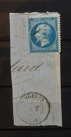 05 - 21 - France - Fragment N°22 Oblitération GC 3471 Surgeres - Charente Inferieur - 1862 Napoléon III