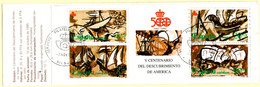 Spain 1990 Discovery America Unfolded Stamps Booklet Cancelled 2105.1055 Ships Colon Columbus - 1981-90 Unused Stamps