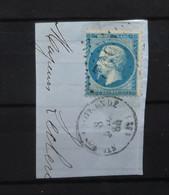 05 - 21 - France - Fragment N°22 Oblitération GC 3602 Sainte Foy La Grande - Dordogne - 1862 Napoléon III