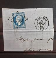 05 - 21 - France - Fragment N°22 Oblitération GC 1930 Lamballe - Côte Du Nord - Thématique Cuisine - 1862 Napoleon III