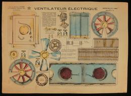 ( Enfantina Découpage Dioarama ) VENTILATEUR ÉLECTRIQUE  Imagerie Marcel VAGNÉ JARVILLE NANCY Planche N°9 - Collections