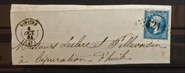 05 - 21 - France - Fragment N°22 Oblitération GC 4211 - Vihiers - Maine Et Loire - 1862 Napoleon III