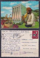 Singapore 1970 National Theatre, Snake Charmer Post Card To Australia - Singapour (1959-...)
