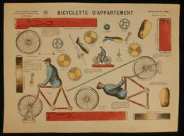 ( Enfantina Découpage Cyclisme ) BICYCLETTE D'APPARTEMENT  Imagerie Marcel VAGNÉ JARVILLE NANCY Planche N°10 - Collections