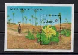 GAMBIE - GAMBIA - B/F - M/S - 1987 - FLEURS - FLOWERS - BLUMEN - FLEURS SAUVAGES - WILD FLOWERS - - Gambia (1965-...)