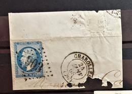 05 - 21 - France - Fragment N°22 Oblitération GC903 - Charolles - Saône Et Loire - 1862 Napoleon III