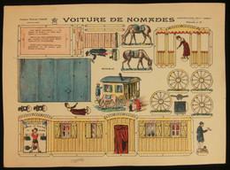 ( Enfantina Découpage Tziganes ) VOITURE DE NOMADES  Imagerie Marcel VAGNÉ JARVILLE NANCY Planche N°16 - Collections
