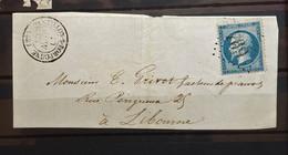 05 - 21 - France - Fragment N°22 Oblitération GC 769 - Castillon Sur Dordogne - Gironde - 1862 Napoleon III