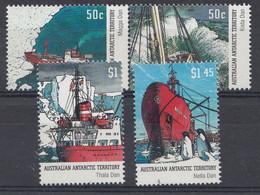 AUSTRALIEN Gebiete In Der Antarktis  Mi.nr: 153-156  Forschungsschiffe   Neuf Sans Charniere-MNH-Postfris - Neufs