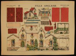 ( Enfantina Découpage Diorama ) VILLA ANGLAISE  Imagerie Marcel VAGNÉ JARVILLE NANCY Planche N°17 - Collections