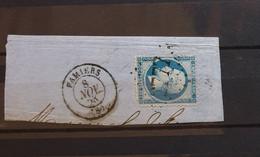 05 - 21 - France - Fragment N°22 Oblitération GC 2777 Pamiers - Ariège - 1862 Napoleon III
