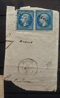 05 - 21 - France - Fragment N°22 Oblitération GC 1845 Issoire - Puy De Dome - 1862 Napoleon III